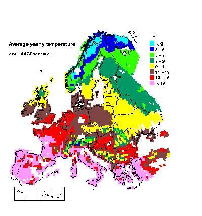 Temp in europe