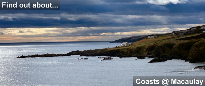 Pic of coastline and link to Coasts @ Macaulay page